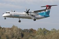 Luxair , De Havilland Canada DHC-8-400, LX-LQI, Aéroport du Findel, Luxembourg, le 11 Octobre 2018. Photo: Chris KarabaAéroport, Frachtflugzeug, Avion, Cargo, Cargolux, De Havilland, Boeing, Aéroport, Flugzeug,