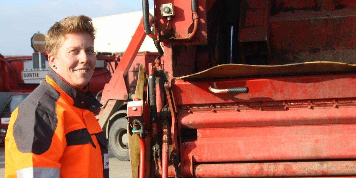 Noemie Lapundiak hält ihren Job als Müllfrau für einen wichtigen Schritt in Richtung Gleichstellung.