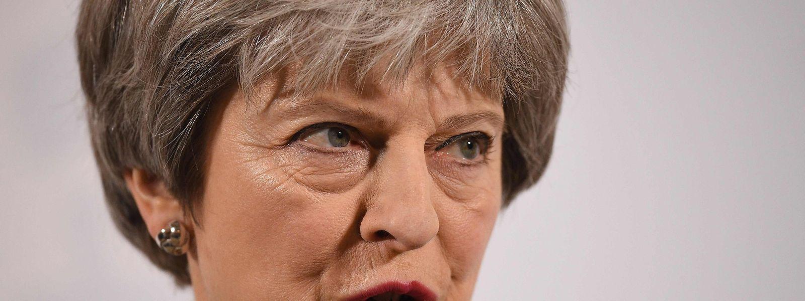 Theresa May bleibt in der Brexit-Frage hart.