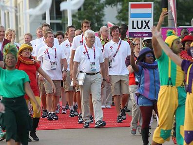 It all began with Luxembourg's athletes arriving at the Olympic village