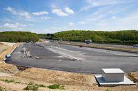 Die Plattform für die künftige Tankstelle an der A4 wurde Ende 2017 fertiggestellt.