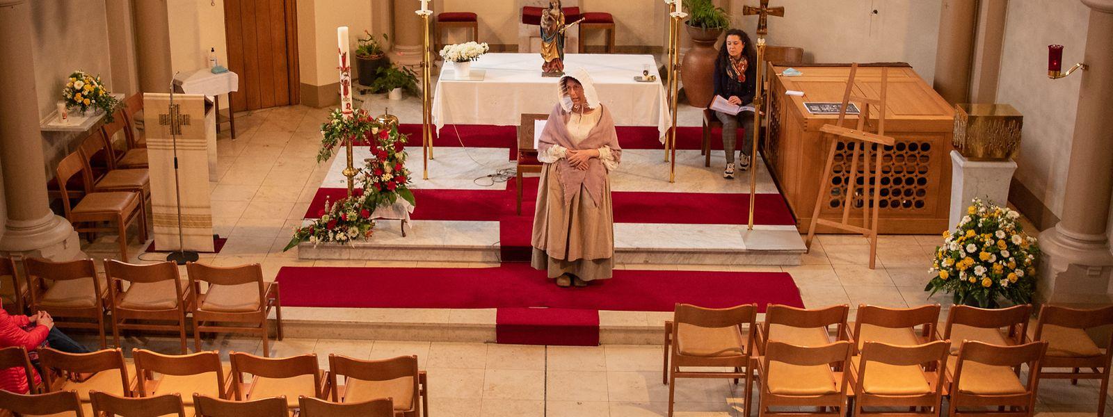 Die erste Stunde der zweistündigen Tour verbringen die Teilnehmer in der Glacis-Kapelle, wo sie durch ein szenisches Spiel in die Entstehung der Oktave eingeführt werden.