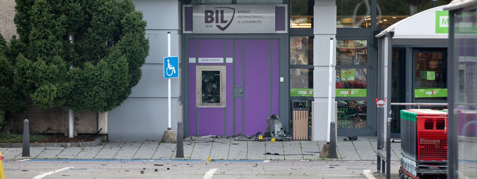 Der Tatort am Supermarkt Copal in Grevenmacher.