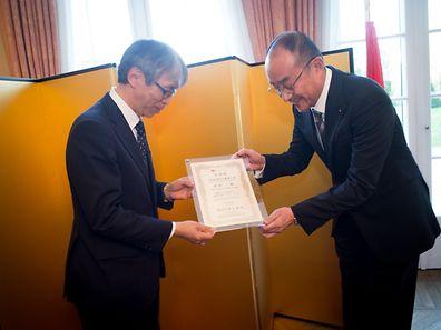 Patron du rest. KAMAKURA nommé Ambassadeur de bonne volonté de la culture culinaire japonaise luxembourg le 06.04.2017 Photo christophe Olinger