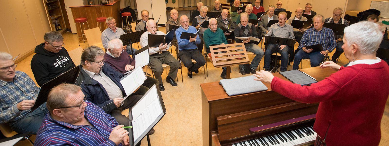 Dirigentin und Pianistin Josée Faltz-Wilmes ist dem Chor seit 50 Jahren verbunden.