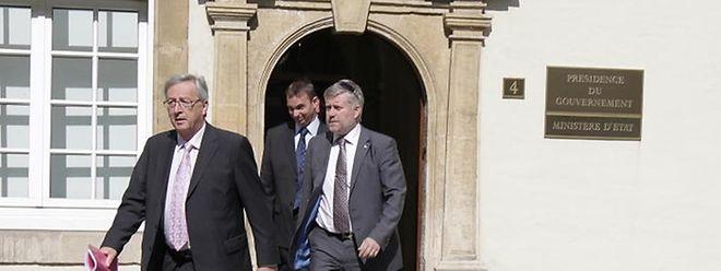 Jean-Claude Juncker bittet den Großherzog um Neuwahlen im Oktober.