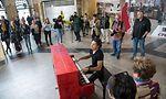 Im Mai gibt der Luxemburger David Ianni sechs Konzerte in Deutschland. Der Auftakt zu der besonderen Konzertreihe fand am Hauptbahnhof in Luxemburg statt.