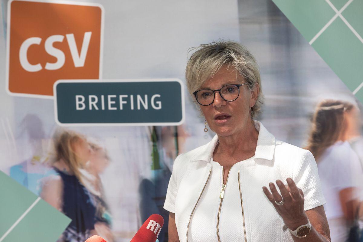 Die CSV-Co-Fraktionschefin Martine Hansen kritisierte die Mehrheitsparteien für deren Umgang mit der Opposition.
