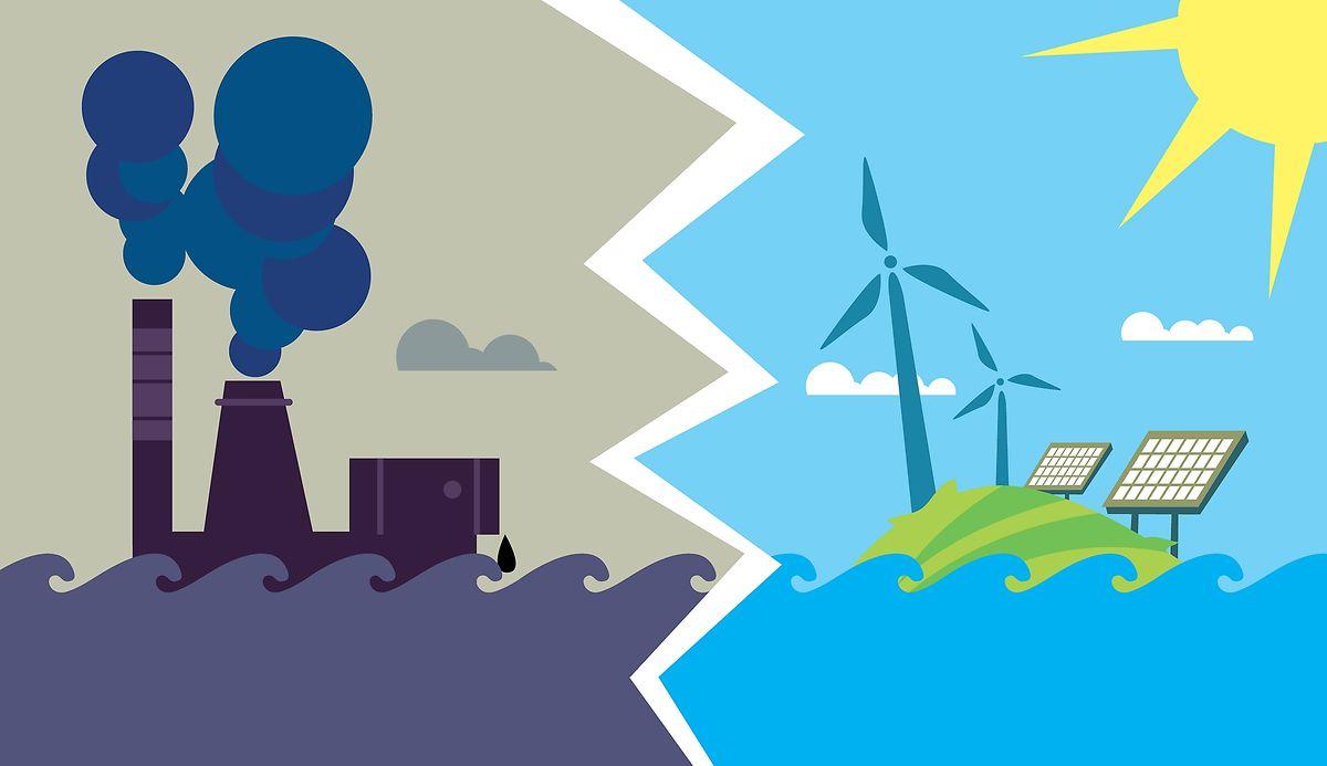 La transition énergétique: devenir indépendant des énergies fossiles en produisant localement de l'énergie verte, entre autres principes.