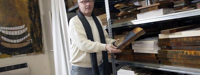 2011 im Atelier: Nico Hienckes zeigte die Schönheit des Verrosteten.