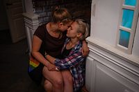 Two young women kiss at Wyrko, the only LGBT+ nightclub in the city of Lublin on July 6, 2020. - The secound round of Poland's presidential election will take place on July 12, 2020. Campaigners say Polish president and his PiS backers have stepped up the rhetoric even further in the run-up to the election, whipping up a climate of homophobia that is pushing some gay people to consider leaving the country. (Photo by Jaap Arriens / AFP)