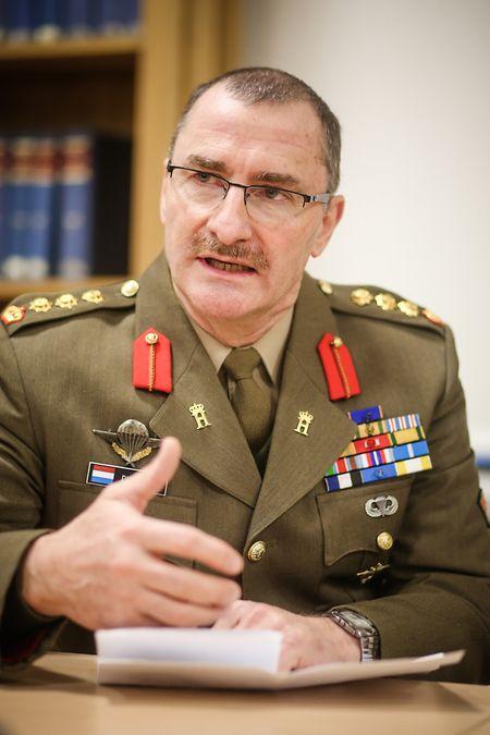 Colonel Alain Duschène untersteht die Elitesportsektion der Luxemburger Armee.