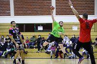 Eric Schroeder (24 Kaerjeng)Handball - coupe du Luxembourg - Rumelange - Kaerjeng - 17/10/2020 - hall sportif Rumelange  foto : Vincent Lescaut