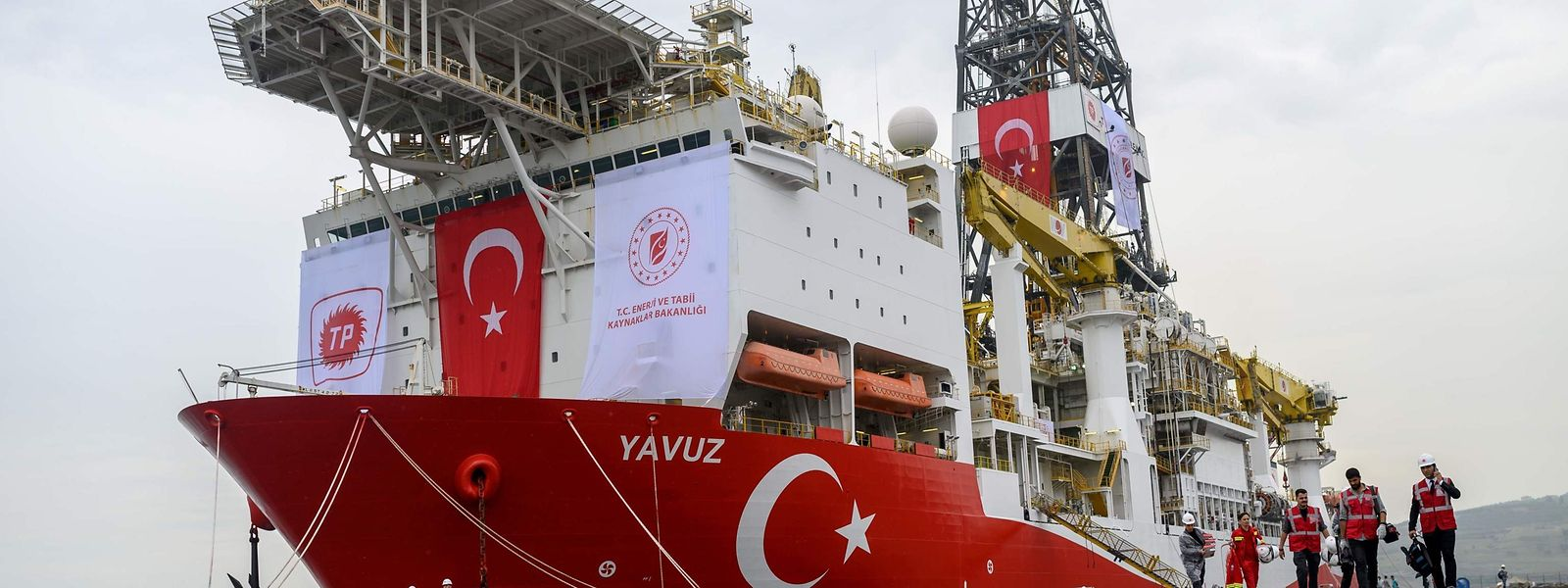 """Das Bohrschiff """"Yavuz"""", das die Probebohrungen vor Zypern durchführen soll."""