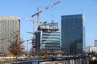 Lokales- Kirchberg Place de l'Europe, Chantier, Baustelle, construction, cran, Arbeiter, Foto: Chris Karaba/Luxemburger Wort