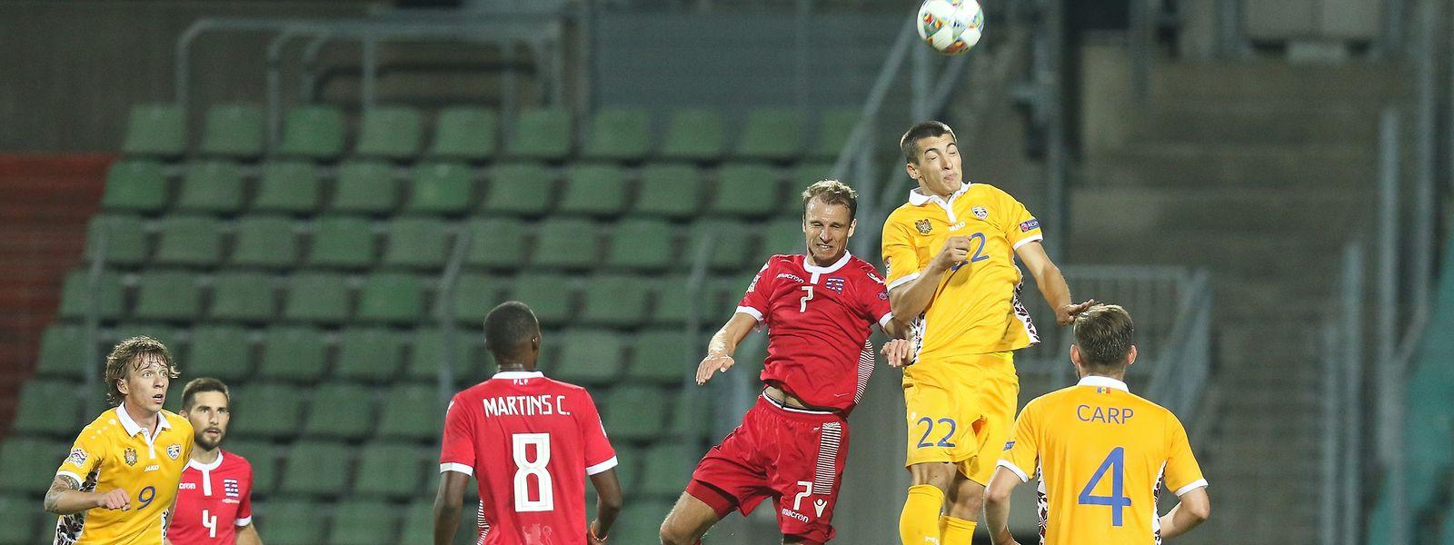 Nach dem 4:0-Sieg gegen Moldawien wollen Lars Gerson (7) und die Luxemburger den nächsten Erfolg.