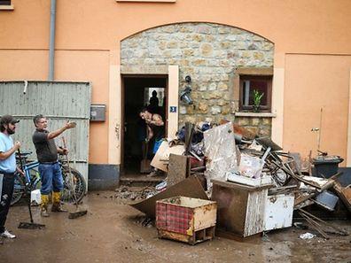 Viele der Betroffenen (hier in Ermsdorf) wissen immer noch nicht welche finanzielle Hilfe ihnen zusteht.