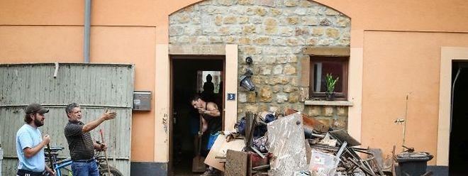 Viele der Betroffenen (hier in Ermsdorf) wissen immer noch nicht, welche finanzielle Hilfe ihnen zusteht.