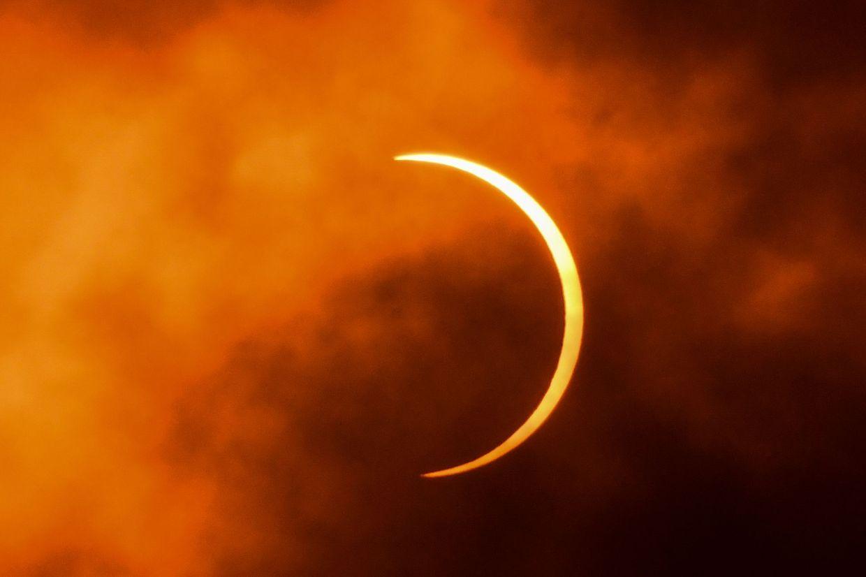 Die ringförmige Sonnenfinsternis am Sonntag.