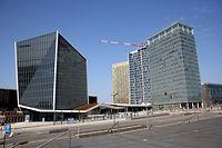 Lokales, Kirchberg ist leer, Place de l'Europe, Avenue J-F Kennedy, Foto: Chris Karaba/Luxemburger Wort