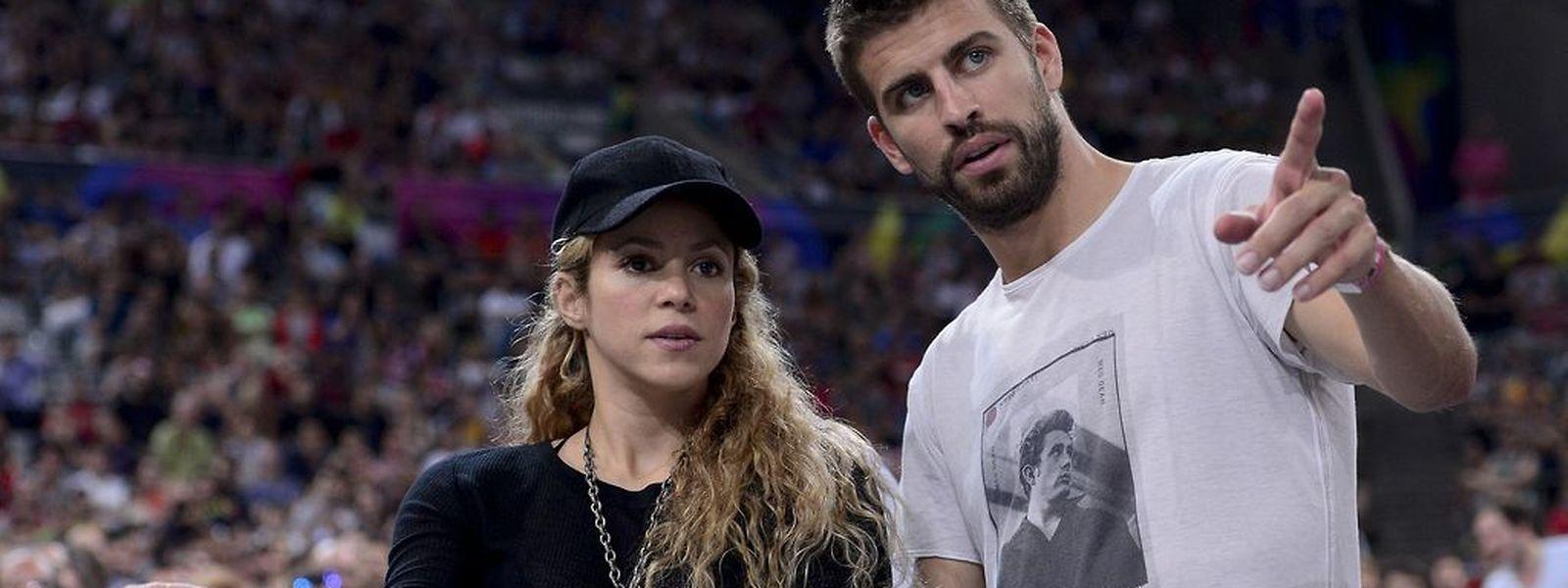 La chanteuse Shakira, ici avec son compagnon Gérard Piqué, fait partie de la liste des célébrités dévoilée.