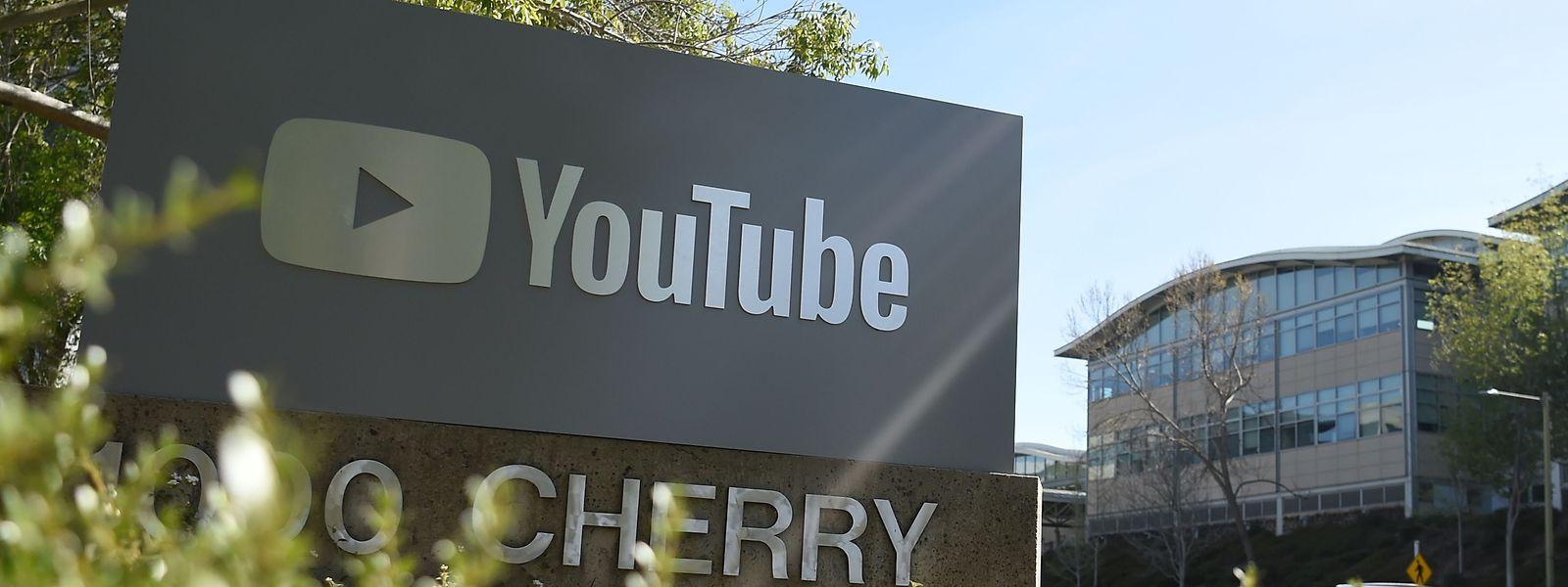 Der Sitz von Youtube in San Bruno, Kalifornien.