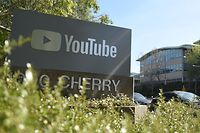(FILES) In this file photo taken on April 3, 2018 YouTube's headquarters is seen in San Bruno, California on April 03, 2018. - YouTube said on June 5, 2019, it would ban videos that promote or glorify racism and discrimination as well as those denying well-documented violent events, like the Holocaust or the Sandy Hook school shooting. (Photo by JOSH EDELSON / AFP)