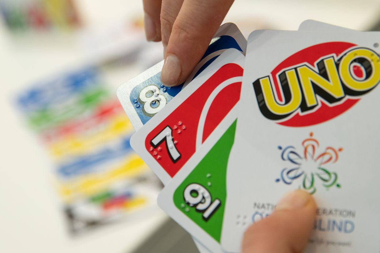 """Messeneuheit: """"Uno"""" ist jetzt auch mit Brailleschrift erhältlich."""
