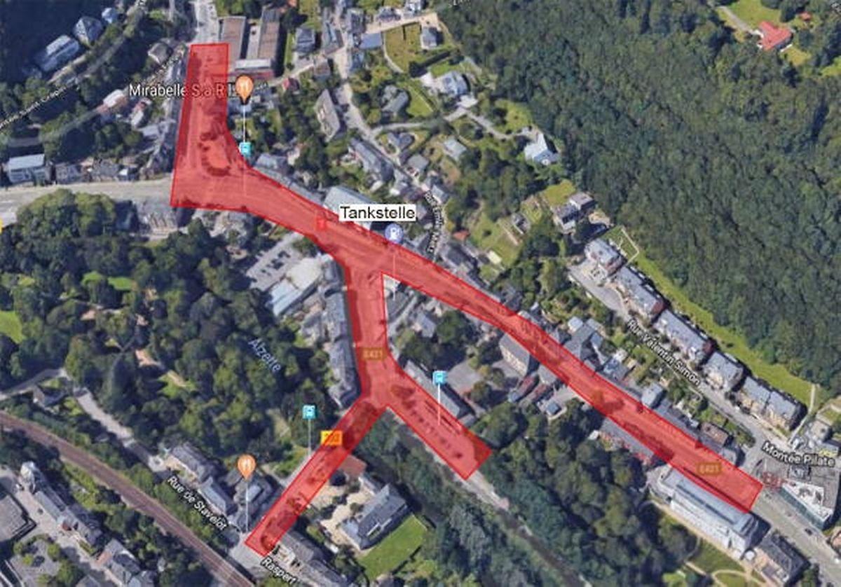 Betroffen sind die Place Dargent, die Rue d'Eich, Rue de Mühlenbach, Rue Auguste Laval und Rue Munchen-Tesch.