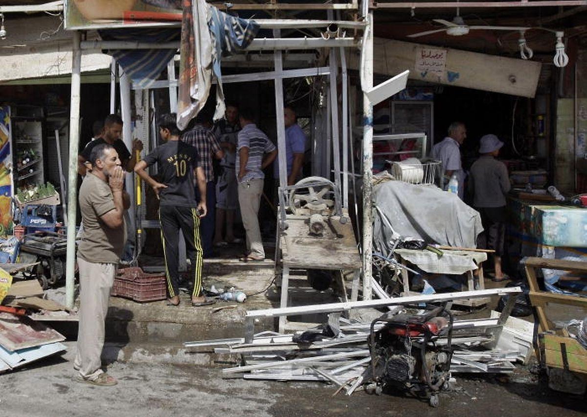 Photo d'archives pris en juillet 2013 après une attaque survenue à Bagdad.