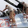 Ein russischer Kampfjet vor dem Einsatz in Syrien.