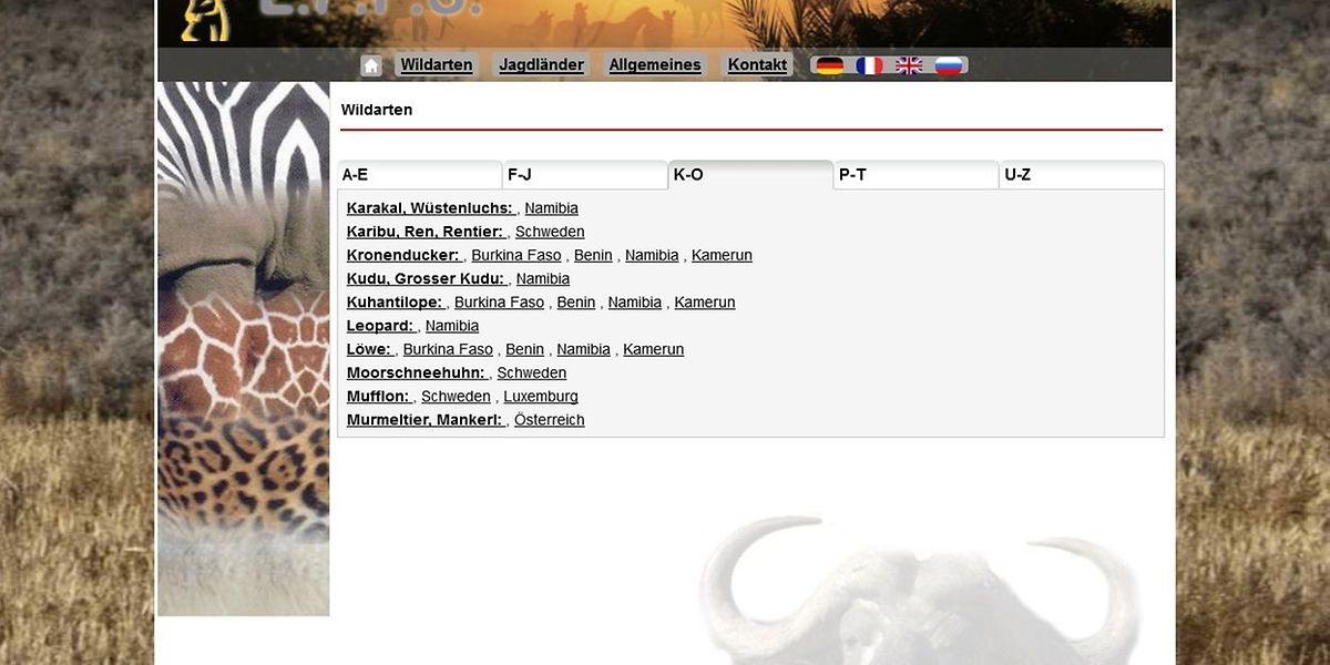 Safaris mit Jagd auf Großwild werden auch in Luxemburg angeboten.