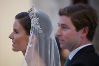 """Exclusive, special rights apply. All interior pictures are exclusive2021-09-26 / Orbetello / Argentario / ITALY : This picture:Royal wedding of Princess Marie Astrid of Liechtenstein with Ralph Worthington at the Cathedral """"Di Santa Maria Assunta"""" in Orbetello on saturday 25 september 2021 followed by an evening gala dinner at l'Oliveraie. Mandatory photo-credit: LUXPRESS/Jean-Claude Ernst """"Zeitlich unbegrenzte -nicht exklusive- Benutzungsrechte (Print+Online) aller gelieferten Bilder, kein Weiterverkauf, keine VerfŸgungstellung an Dritte"""" (damit sichern wir uns die Abdruckrechte in unseren Produkten und gewŠhrleisten dem Fotografen gegegenŸber, dass seine Bilder nicht weitergegeben werden bzw. wir sie nicht anderen zur VerfŸgung stellen oder verkaufen)""""Info to editors: HDTV video feeds availableLUXPRESS EuropeanPressPhotoAgency 2, rue de Malines, L-2123 LUXEMBOURG  Mobile: +352 661 432343. ***NOTES TO THE EDITORS:   1. No use for advertisement purposes 2. No model release. 3. No responsibility for misuse with inappropriate, inaccurate, modifiedor false photo-captions or texts against human dignity 4. Inappropriate use of the original photo and its original texts or captions in any not authorized or authorized publications not observing press deontologywill be sued.  5. Deformation of original picture for satirical misuse will be sued. 6.mandatory photo credit quote requested 7. Illegal transmission to any non-authorized third party will be sued as a criminal offense i.e. theft of intellectual property. 8. Protected by DMCA and MCI and by international and national copyright laws."""
