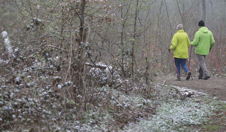 Schnee in Luxemburg am Sonntag.