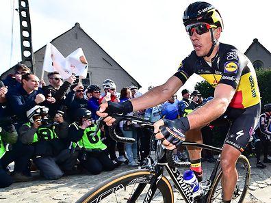 Philippe Gilbert à l'attaque. Le champion de Belgique a frappé fort à moins d'une semaine du Ronde.