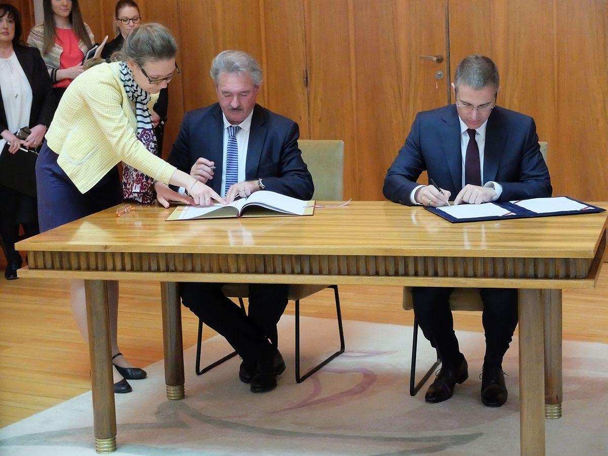 Außenminister Asselborn und der serbische Innenminister Stefanovic unterzeichneten am Mittwoch ein Abkommen, mit dem die Zusammenarbeit der Polizei in den beiden Ländern gestärkt werden soll.