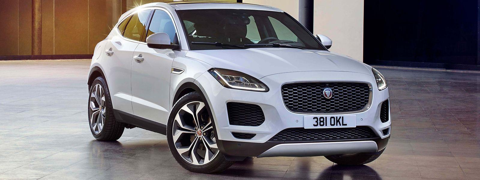 Luxus, Leistung und SUVs auf der IAA: zum Beispiel in Form des neuen Jaguar E-Pace.
