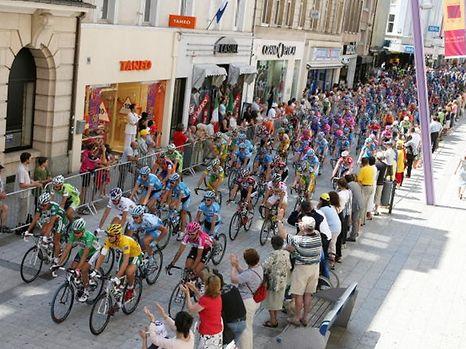 The Tour de France peloton nine years ago in Esch-sur-Alzette