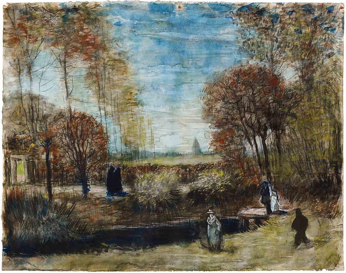 """""""De tuin van de pastorie te Nuenen"""", Vincent Van Gogh (1885)"""