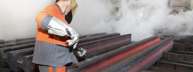 Stahlwerk von Arcelor-Mittal in Differdingen.
