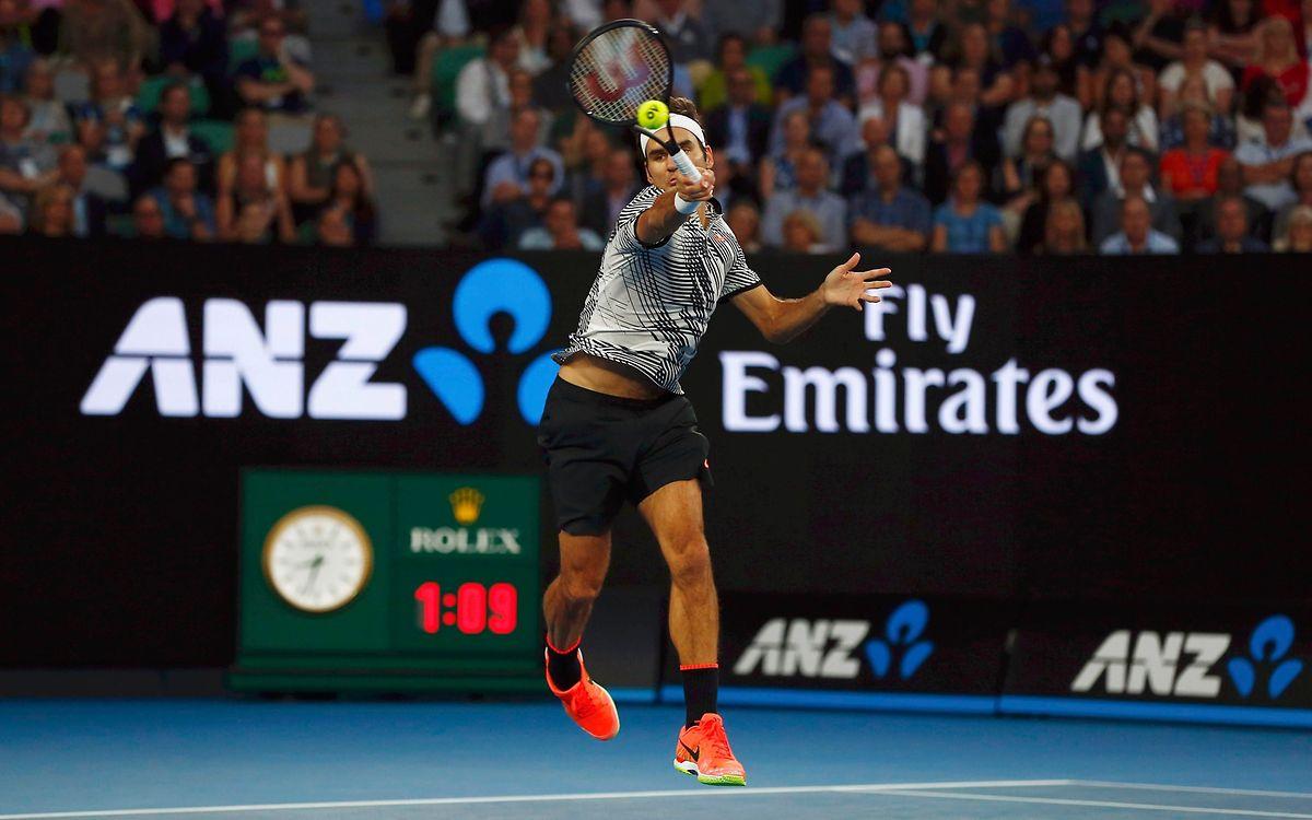 """""""Maestro"""" Roger Federer ließ Mischa Zverev keine Chance."""