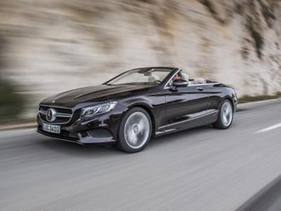 Mercedes Benz S 500 Cabriolet, rubinschwarz-mettalic, Leder: designo beige