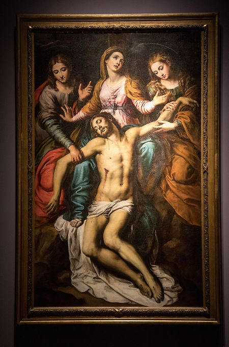 """""""Die Pietà mit Johannes dem Evangelisten und Maria Magdalena"""" ist van Loons einziges Italienzeugnis."""