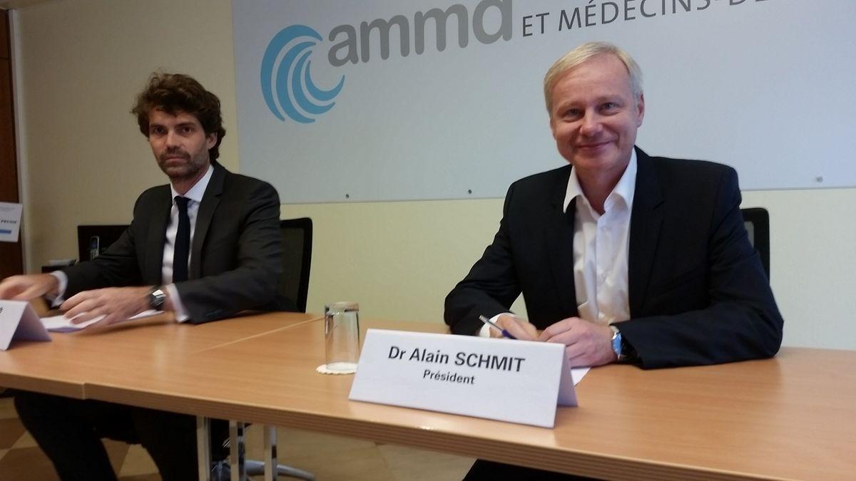 Les Dr Guillaume Steichen (à gauche) et Alain Schmit, réclament des réponses à leurs questions à Etienne et Romain Schneider: «Cela fait un an qu'on ne dit rien mais nous devenons impatients. Nous aimerions discuter sérieusement».
