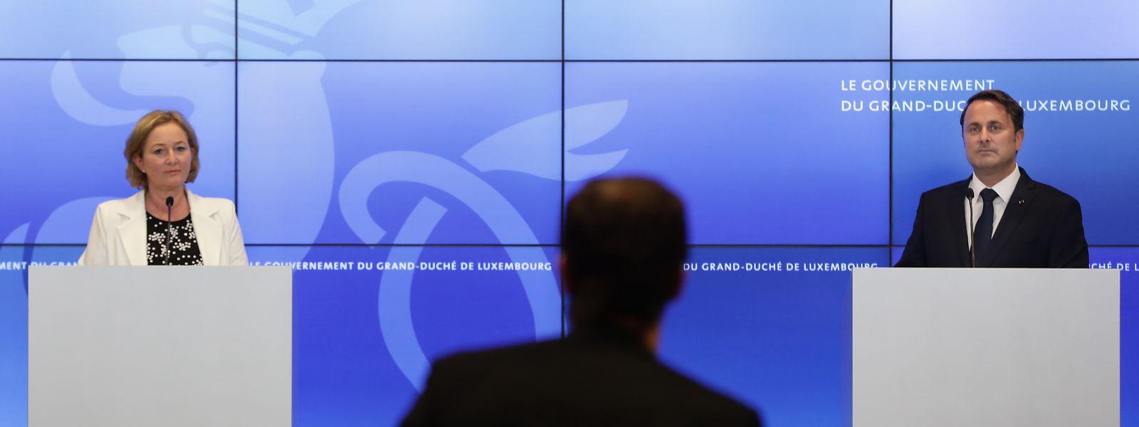 Xavier Bettel und Paulette Lenert traten nach der Ministerratssitzung gemeinsam vor die Öffentlichkeit.
