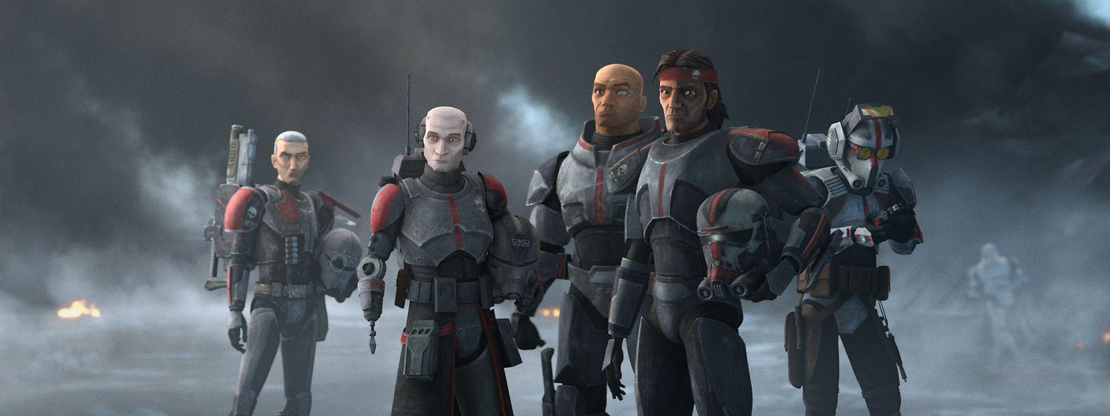 """Echo, Wrecker, Hunter und Tech sind die Helden der Star-Wars-Animationsserie """"The Bad Batch""""."""