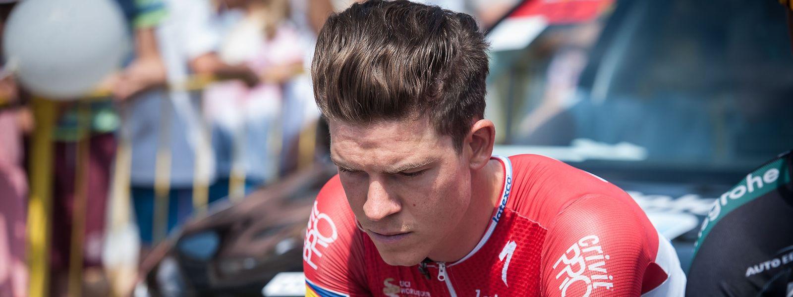 Le jeune espoir du cyclisme luxembourgeois souffre d'endofibrose et pourrait être opéré prochainement.