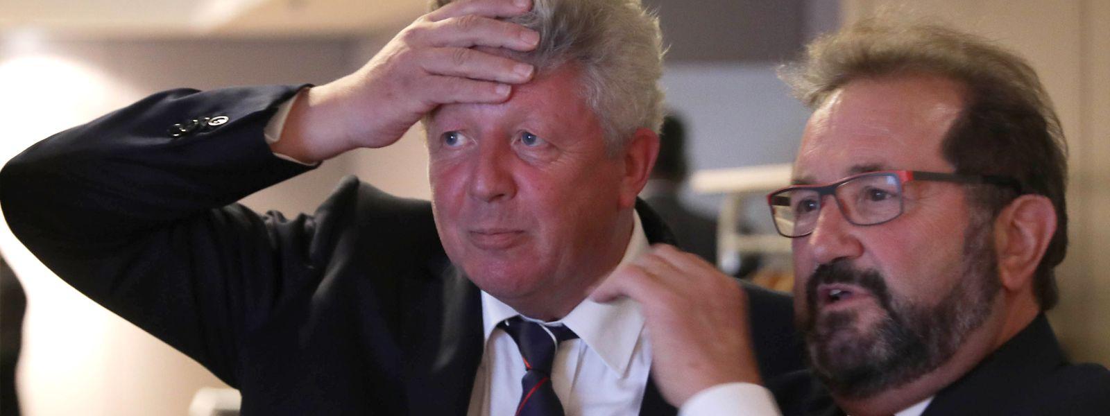 Roy Rediung und Gast Giberyen blicken mit gemischten Gefühlen auf das Wahlergebnis.
