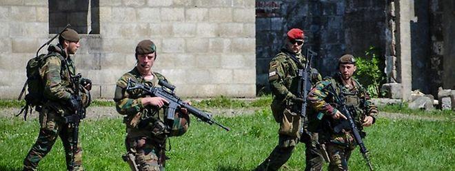Soldaten einer EU-Battle-Group 2014 beim Manöver Quick Lion in Belgien.