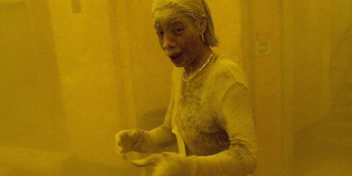 Das Foto der staubbedeckten Marcy Borders ging im September 2001 um die Welt.